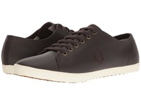 Fred Perry Kingston Leather Dark Chocolate Dark Chocolate Men's Lace Up Casual Shoes Brown