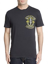Affliction Operator Graphic Tee Vintage Black