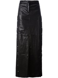 Ilaria Nistri Studded A Line Long Skirt Black