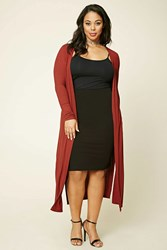 Forever 21 Plus Size Longline Knit Cardigan