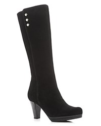 La Canadienne Meda Waterproof High Heel Platform Tall Boots Black