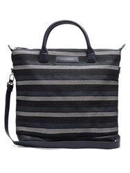 Want Les Essentiels O'hare Woven Cotton Tote Blue Multi