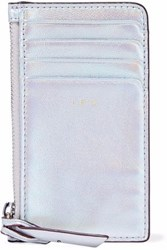 Iro Iridescent Leather Cardholder Silver