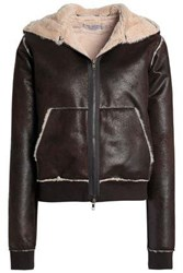 Bailey 44 Faux Shearling Hooded Jacket Dark Brown