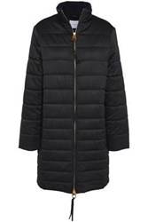 Agnona Quilted Shell Down Coat Black