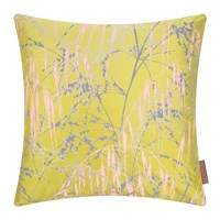 Clarissa Hulse Three Grasses Cushion 45X45cm Quince Soft Grey Oyster Gold