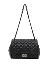 Marc B Quilted Black Cross Body Bag By Black