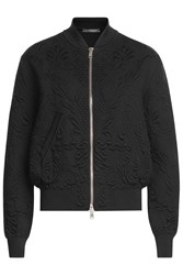 Alexander Mcqueen Bomber Jacket With Wool And Cashmere Black