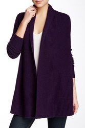 Ply Cashmere Long Sleeve Shawl Cashmere Cardigan Purple