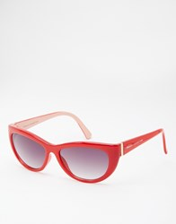 French Connection Cat Eye Sunglasses Red