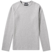 Wings Horns Vented Double Knit Crew Grey