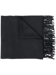 Emporio Armani All Over Logo Scarf Black