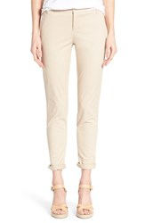 Women's Caslon Chino Ankle Pants Tan Oxford