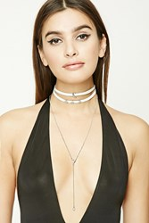 Forever 21 Drop Chain Choker Set