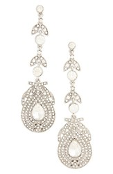 Topshop Women's Statement Leaf Drop Earrings
