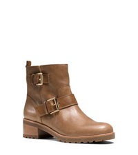 Michael Kors Gretchen Leather Ankle Boot Caramel