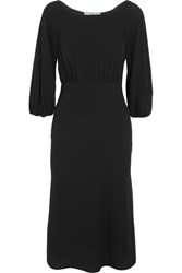 Prada Crepe Midi Dress Black