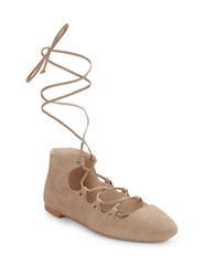 French Connection Kamilla Suede Ballet Flats Hazelwood