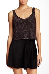 American Apparel Sparkle Crop Tank Metallic