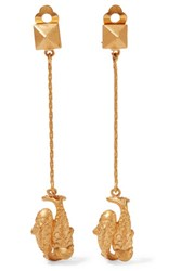 Valentino Pisces Gold Plated Earrings One Size