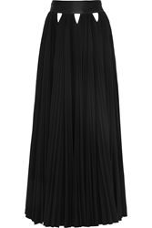 Givenchy Cutout Plissa Stretch Crepe Maxi Skirt