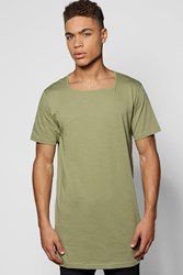 Boohoo T Shirt With Square Neck Khaki