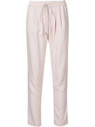 Sam And Lavi Elastic Waistband Trousers Pink And Purple