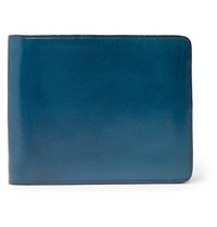 Il Bussetto Polished Leather Billfold Wallet Blue