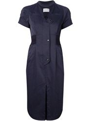 Mame Fitted Shirt Dress Blue