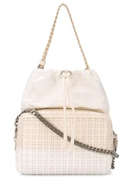 Maison Martin Margiela Maison Margiela Woven Shoulder Bag White