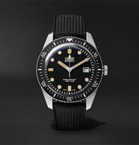 Oris Divers Sixty Five Automatic 42Mm Stainless Steel And Rubber Watch Black