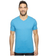 Prana V Neck Tee Vortex Blue Men's Short Sleeve Pullover