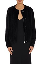 The Row Women's Fur Kelly Bomber Jacket Black