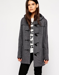 Gloverall Hooded Duffle Coat Navy