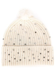 Markus Lupfer Embellished Beanie Nude And Neutrals