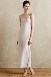 Burning Torch Column Maxi Slip White