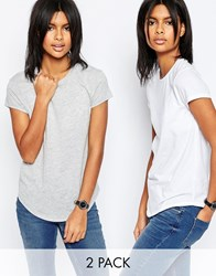 Asos The Ultimate Crew Neck T Shirt 2 Pack Save 15 White