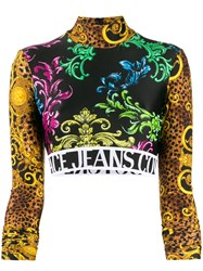Versace Jeans Couture Baroque Long Sleeve Cropped Jumper 60