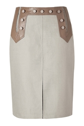 Raoul Taupe A Line Skirt