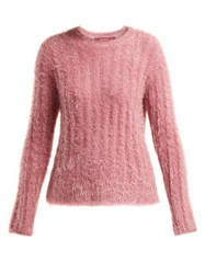 Sies Marjan Margo Lurex Faux Fur Sweater Pink