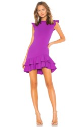 Susana Monaco Sleeveless Ruffle Hem Dress Purple