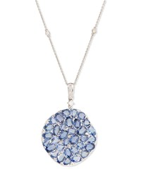 Signature Slice Cut Sapphire And Diamond Pendant Necklace Rina Limor