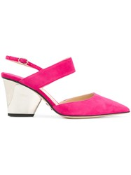 Paul Andrew Slingback Pumps Pink And Purple