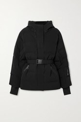Ienki Ienki Sheena Hooded Belted Quilted Down Ski Jacket Black