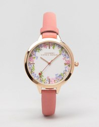 Johnny Loves Rosie Floral Pink Watch Pink Gold