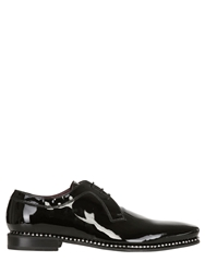 Fratelli Borgioli Handmade Black Patent Lace Up Shoes