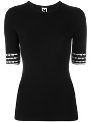 M Missoni Contrast Short Sleeve Sweater Black