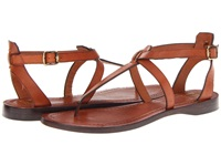 Frye Rachel T Sandal Cognac Veg Tan Women's Sandals Brown