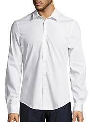 Ben Sherman Slim Fit Cotton Blend Dress Shirt Bright White