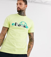 Ellesse Chipolle Multi Coloured Logo T Shirt In Lime Exclusive At Asos Yellow